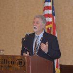 President Scott Birchfield addresses the attendees